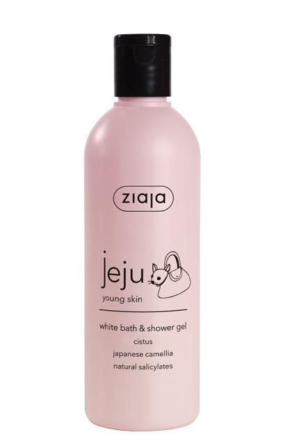 bílý sprchový  & koupelový gel