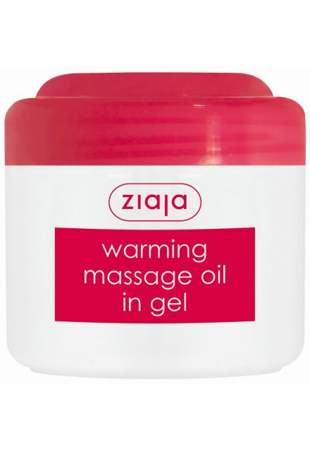 masážní olej v gelu rozehřívající